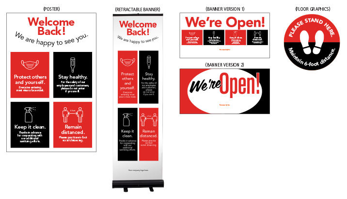 Safe Opening Signage Packages